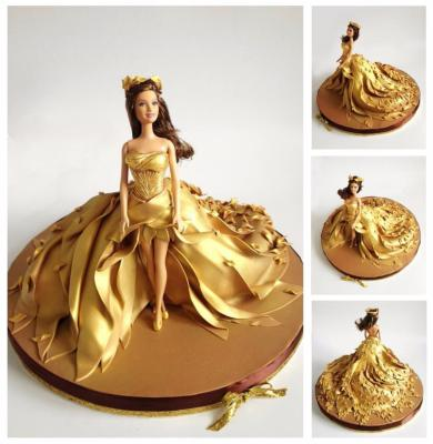 Robe Barbie gold , Luxe Edition l 10-15 parts