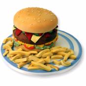 Gateau Burger frites en 3D  20-25 parts