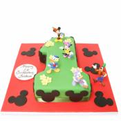 Gâteau Chiffre Mickey 15-20 parts