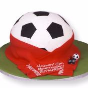 Gâteau Ballon-echarpe Football à partir de  10-15 parts
