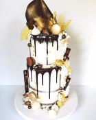 "Drip cake ""My  Big chocolate"" 50 parts"