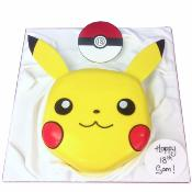 Gâteau Pikachu Pokemon rond 15-20 parts