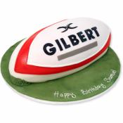 Gâteau Ballon de Rugby  15-20 parts