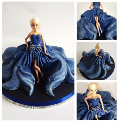 Robe Barbie Night Blue , Luxe Edition l 10-15 parts